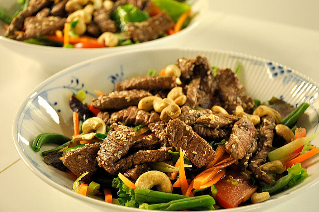 salat til oksekød
