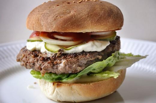 Hjemmelavet burger5
