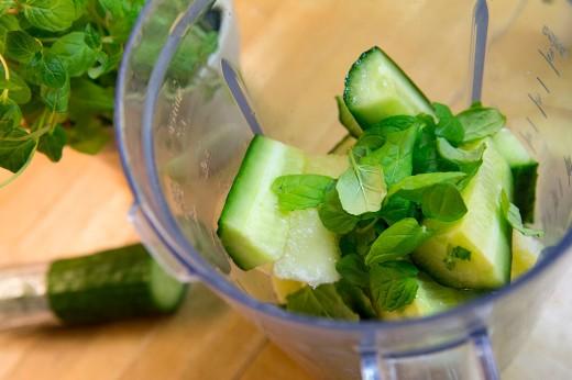 Smoothie med agurk