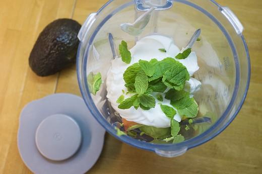 Avokado-mynte-smoothie